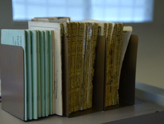 Old books found in the Augusta County Library where