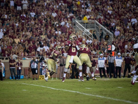 Everett Golson posted gaudy numbers in his Seminole
