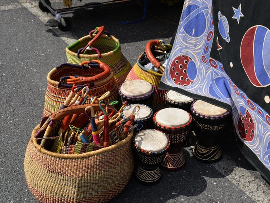 Crafts and instruments at the 27th annual African American