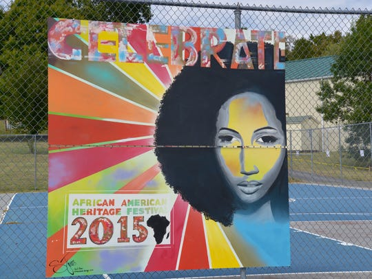 A painted mural by Sarah Jones for the 27th annual