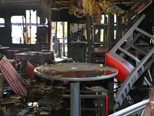 Fire damage at The Double Eagle Saloon Bar & Gril.