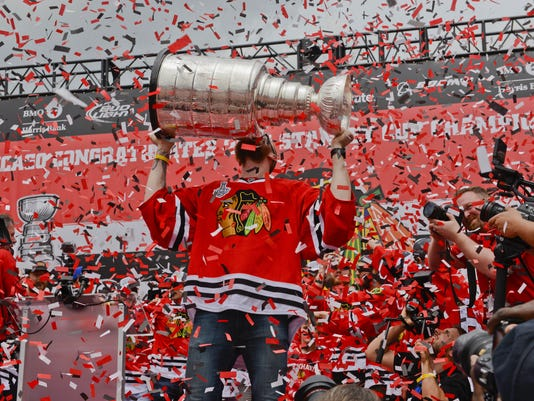 NHL: Chicago Blackhawks-Victory Celebration
