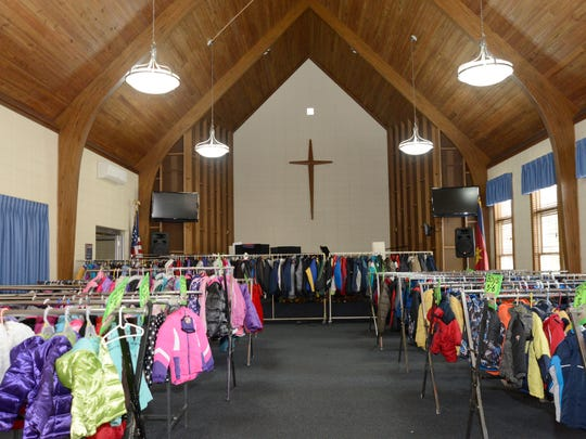 The Salvation Army is in the process of setting up for the Coats for Kids distribution this Saturday in its chapel.
