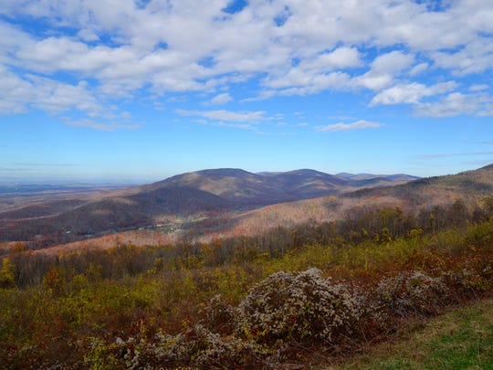 At McCormick Gap Overlook in the Shenandoah National
