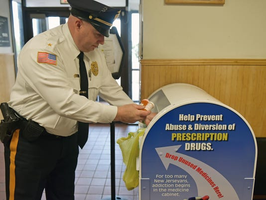 RX Drop Box at Millville Police Station