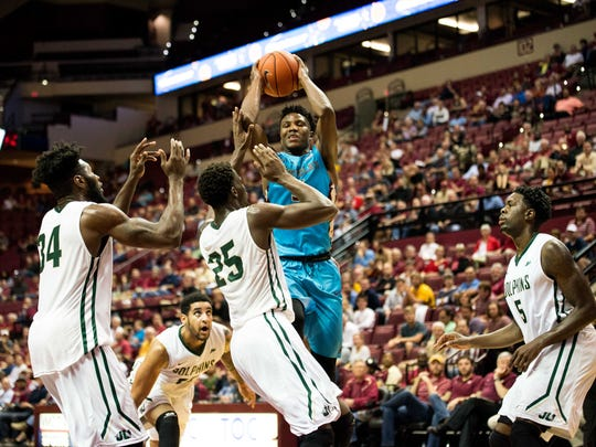 Florida State defeated Jackosonville University by a score of 98-79 in Tallahassee, FL on Tues., Nov 17.