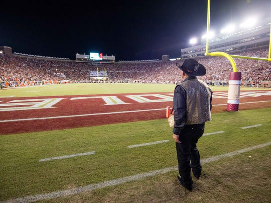 "Norman ""Skeeter"" Bowers watched FSU's exciting game against Miami from the sideline."