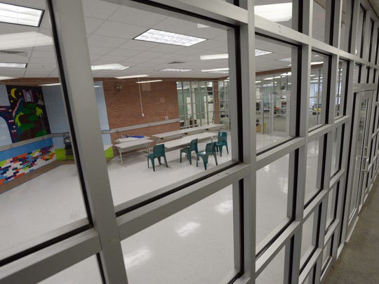a new library nears completion at the Caddo Parish Juvenile Justice Complex.