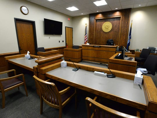 Courtroom 3 of the Caddo Parish Juvenile Justice Complex.