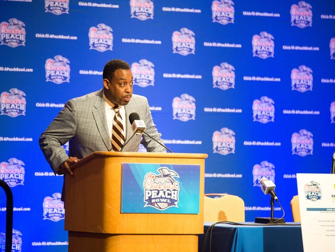 The Florida State defense addressed Peach Bowl media