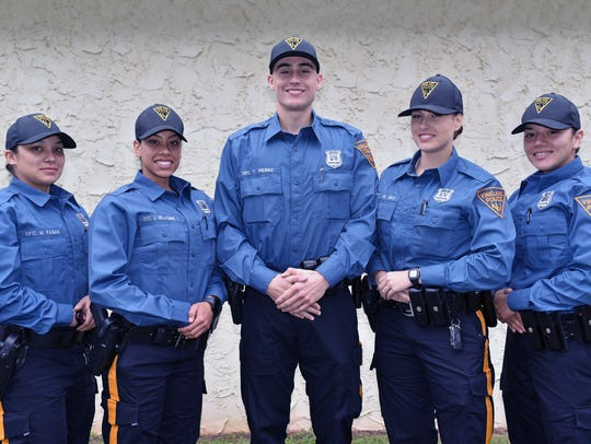 L to r:  New Vineland officers Meaghan Pagan,23,  Jasmine