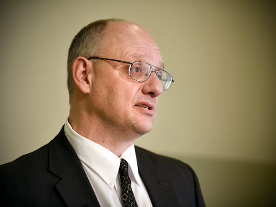 Lawyer Michael Bryant, Bradshaw & Bryant, Waite Park, announced the filing of a sexual abuse lawsuit Wednesday, Jan. 13 against Fr. Othmar Hohmann. The lawsuit by a young girl is naming the Diocese of St. Cloud, St. John's Abby and St. Joseph Parish in St. Joseph as defendants.
