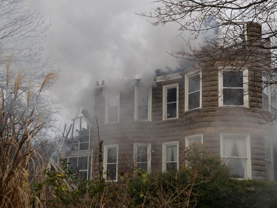 A fire destroyed a Verona home on Sunday, Jan. 17,