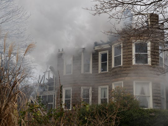 A fire destroyed a Verona home on Sunday, Jan. 17, 2016.
