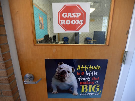 The GASP room at Greenacres Middle School in Bossier