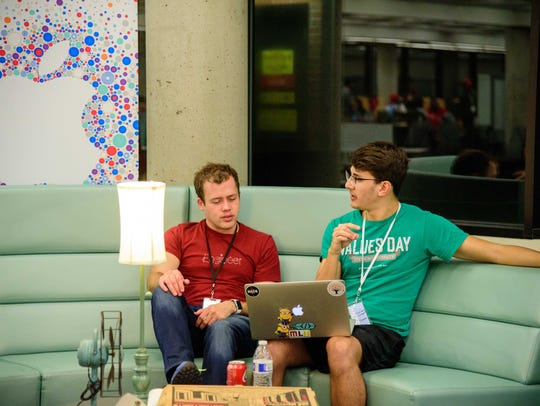 With mentors on standby to help student hackers, student