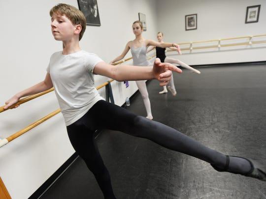 Cameron Keston dances at Power and Grace School of Performing Arts.