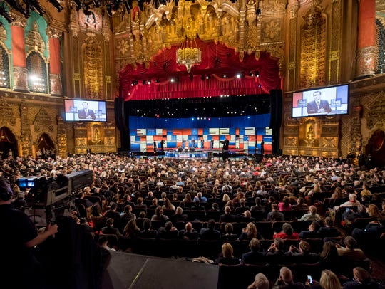 The beautiful Fox Theatre in Detroit hosts the Republican