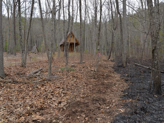 James Fauber's home and chapel were just yards away from a controlled burn that was set to battle the wildfire at St. Mary's Wilderness.