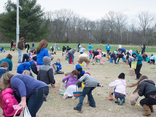 The Spring Speggtacular Egg Hunt at Moss-Wright Park on Sunday March 20.