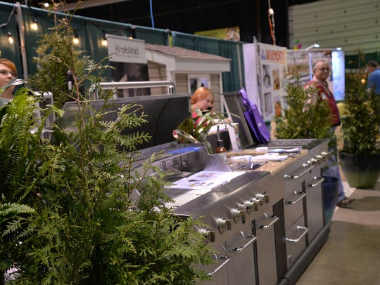 A display by Lowe's at the Home and Garden Show at
