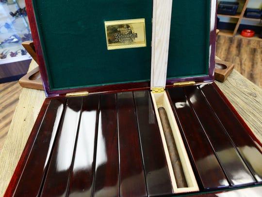 The box of Maharaja Gurkha cigars. Extremely rare the