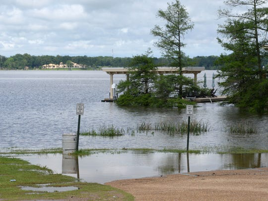 Cross Lake was closed due to high water Wednesday as