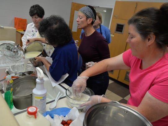 Students gather at a cheese making class at Rosenwald Community Center in Waynesboro on Sunday, May 1, 2016.