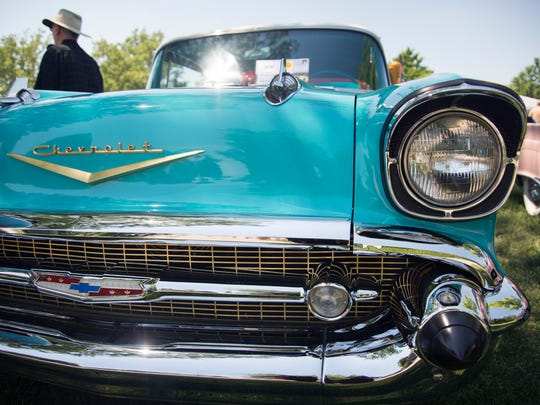 A 1957 Chevrolet Bel Air on display at the Motor Muster.