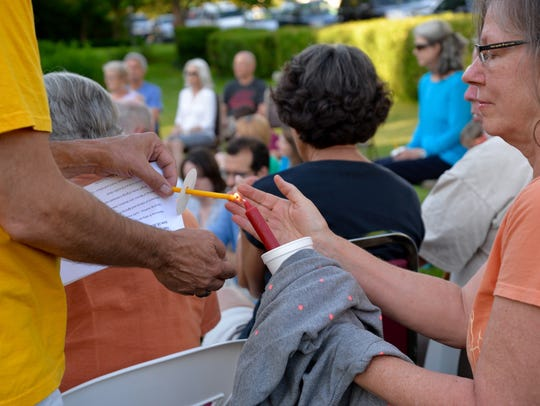 Dozens gathered on Sunday, June 19, 2016 at the Unitarian