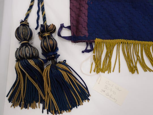 Tassels from a Civil War battle flag from the 3rd infantry on Wednesday, June 22, 2016 at the storage facility at the State Historical Center in Lansing which houses 240 battle flags from the Civil War, Spanish American War and World War I.