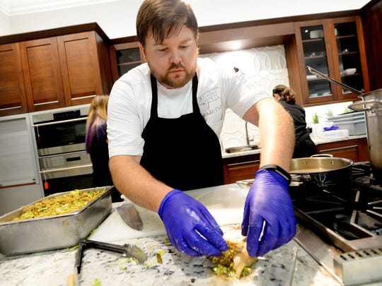 Chef Blake Jackson cooks for the Society of the Golden