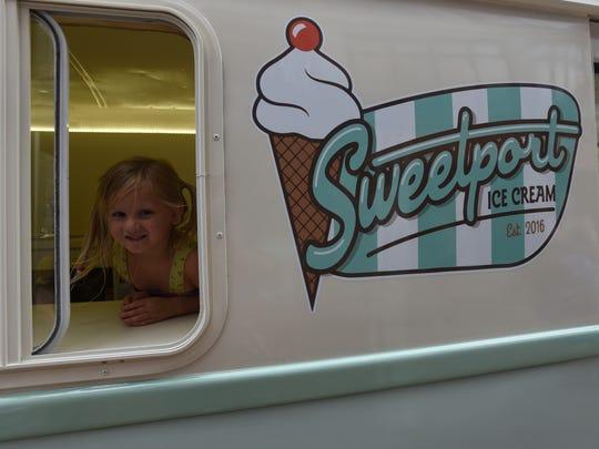 The Sweetport Ice Cream Truck.
