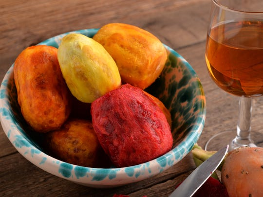 Prickly pear cactus produces fruit that can be made into jelly, wine and other products.
