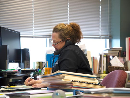 Literacy Coordinator Michelle Krajnik talks on the