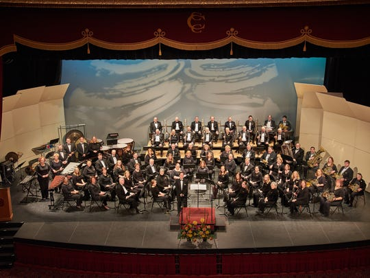 The Lakeshore Wind Ensemble in March 2016.