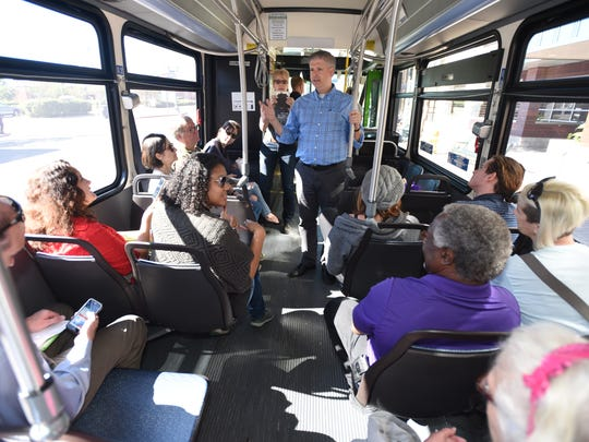 Charles Marohn from Strong Towns talks to citizens as they tour downtown Shreveport and discuss ways to encourage development in Shreveport's city center.