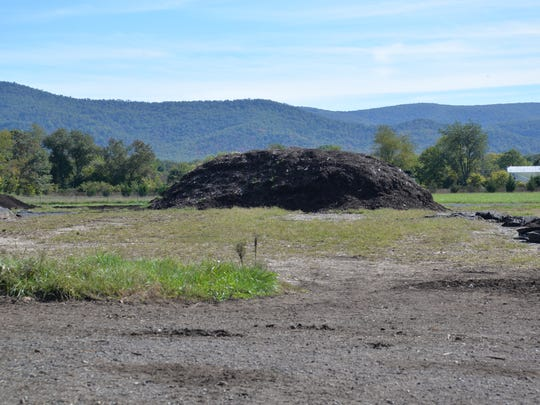 A compost pile at Black Bear Composting in Crimora. The facility will close at the end of 2016, but owners hope to continue composting efforts in the effort.