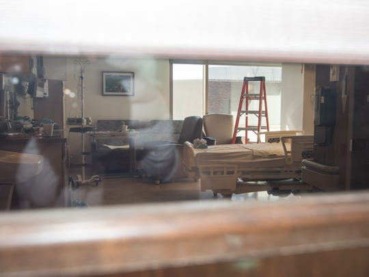 A view from the hallway shows the interior of the hospital room where Danny Hammond shot and killed an Aitkin County investigator.