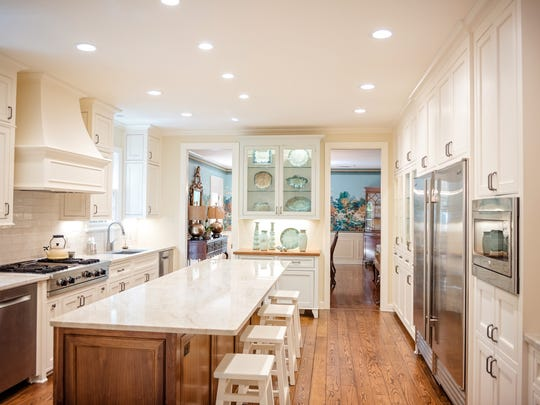 This kitchen at 541 Rives Place features a built-in