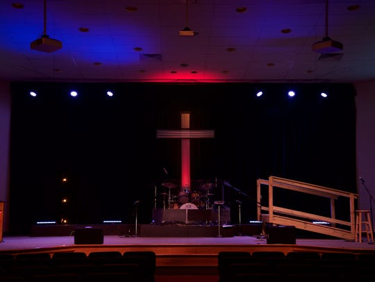 The interior of the church worship space.