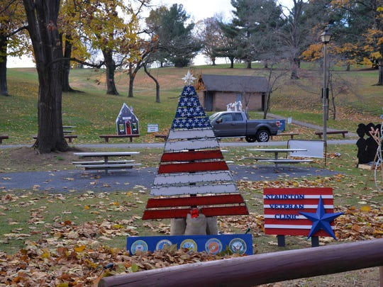 Displays in Gypsy Hill Park in Staunton for its Celebration of Holiday Lights.