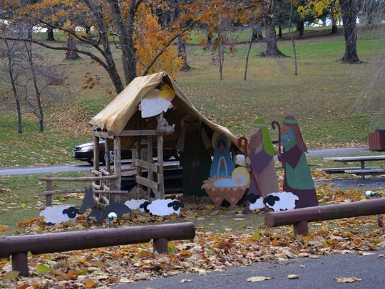 Displays in Gypsy Hill Park in Staunton for its Celebration