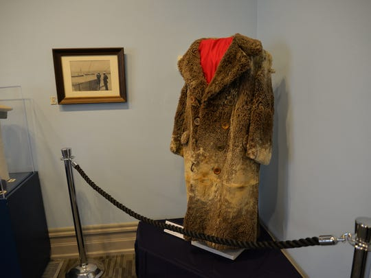 "A coat on display in the new ""Hidden Treasures"" exhibit at the Woodrow Wilson Presidential Library and Museum."