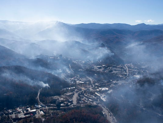 Gatlinburg Fire 1