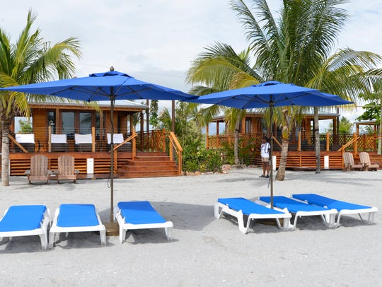 Each of the 11 private villas along the Harvest Caye