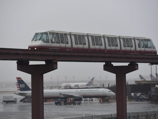 A 2015 file photo of the Airtrain at Newark Airport.