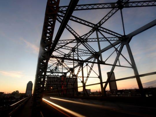 The Texas Street bridge no longer has the neon lights
