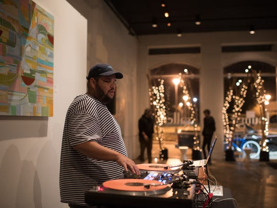 "Brandon Journet, aka DJ Digital, during the Lounge Gallery for a pop-up viewing of ""Lemonade"" Dec. 30."
