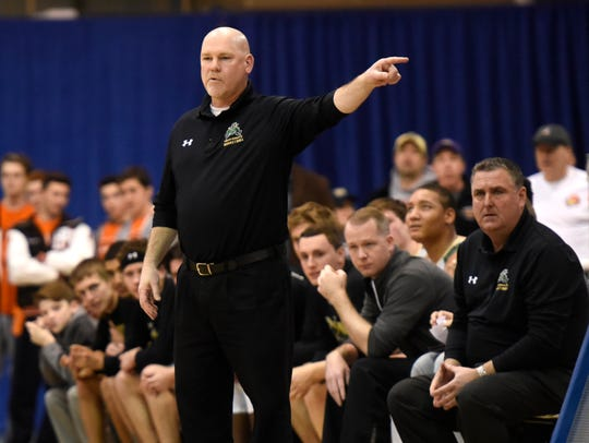 St. Joseph basketball coach Mike Doherty has remained
